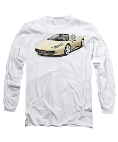 Ferrari 458 Spider - Parallel Hatching Long Sleeve T-Shirt