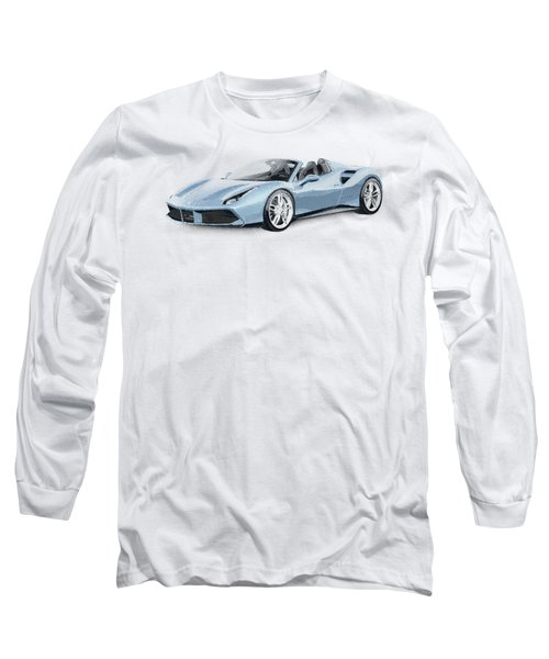 Ferrari 488 Spider - Parallel Hatching Long Sleeve T-Shirt
