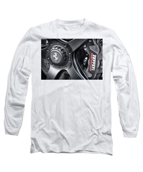 Long Sleeve T-Shirt featuring the photograph #ferrari #print by ItzKirb Photography