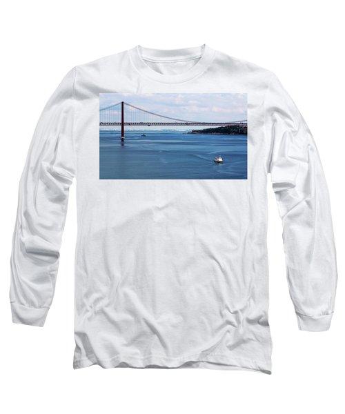 Ferry Across The Tagus Long Sleeve T-Shirt by Lorraine Devon Wilke