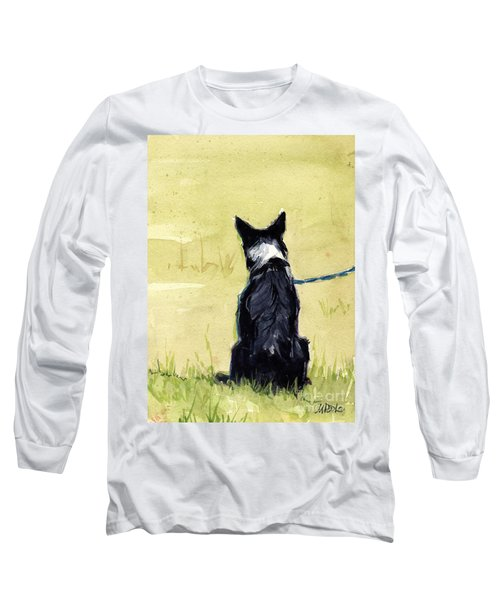 Long Sleeve T-Shirt featuring the painting Field Greens by Molly Poole