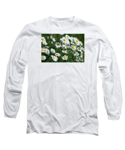 Long Sleeve T-Shirt featuring the photograph Field Of Daisy's  by Alana Ranney