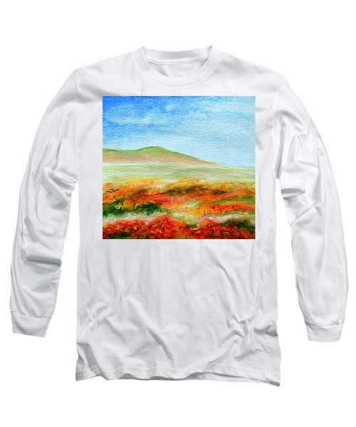 Long Sleeve T-Shirt featuring the painting Field Of Poppies by Jamie Frier