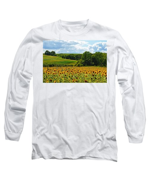 Field Of Sunflowers Long Sleeve T-Shirt