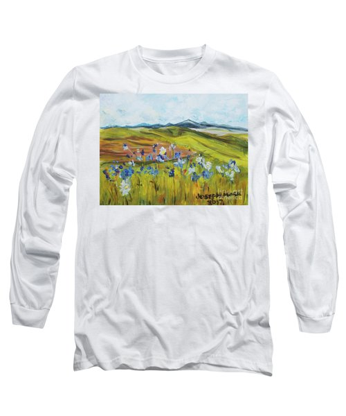Field With Flowers Long Sleeve T-Shirt