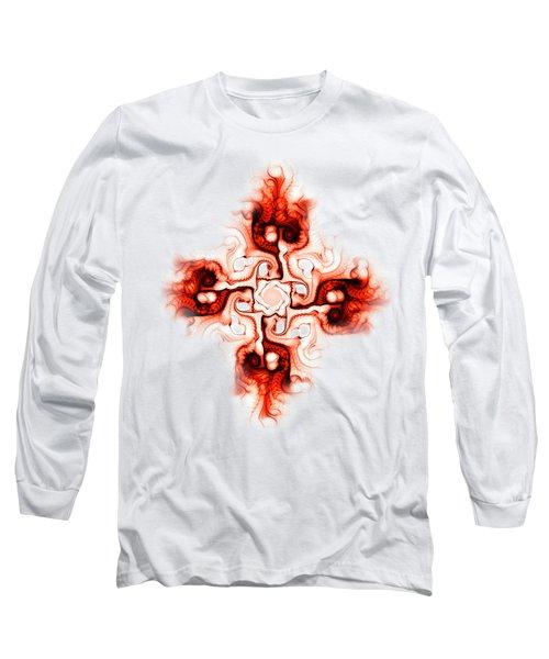 Fiery Cross Long Sleeve T-Shirt