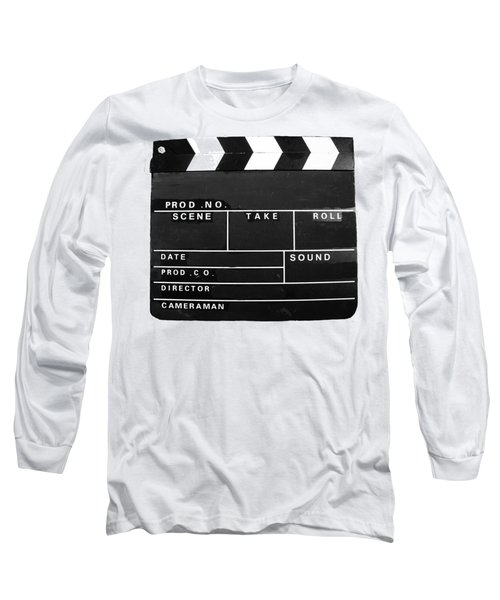 Film Movie Video Production Clapper Board  Long Sleeve T-Shirt by Tom Conway
