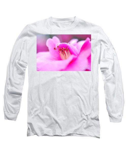 Fine Art- Pink Camellia Long Sleeve T-Shirt