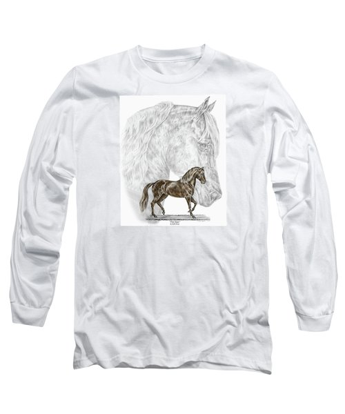 Fine Steps - Paso Fino Horse Print Color Tinted Long Sleeve T-Shirt