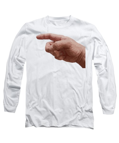 Finger - Parallel Hatching Long Sleeve T-Shirt