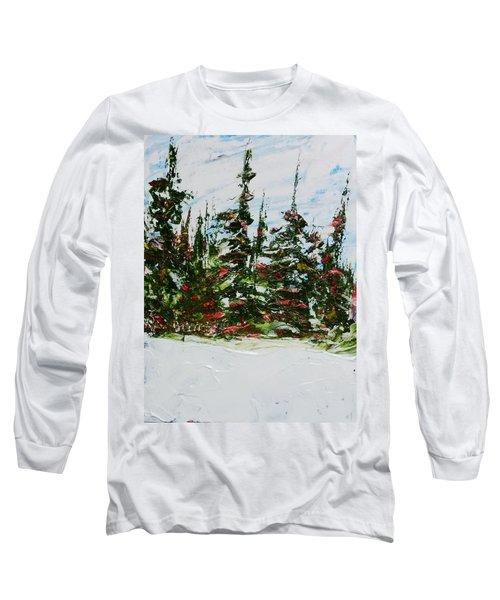Fir Trees - Spring Thaw Long Sleeve T-Shirt
