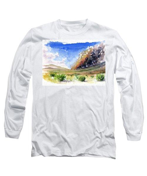 Fire In The Desert 1 Long Sleeve T-Shirt by John D Benson