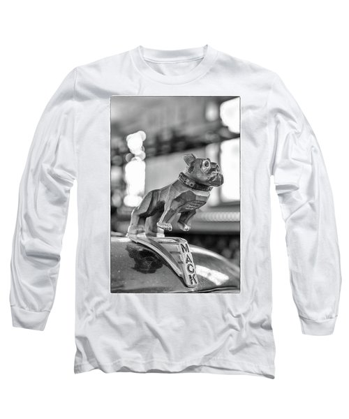 Long Sleeve T-Shirt featuring the photograph Fire Truck Hood Ornament by Patricia Schaefer