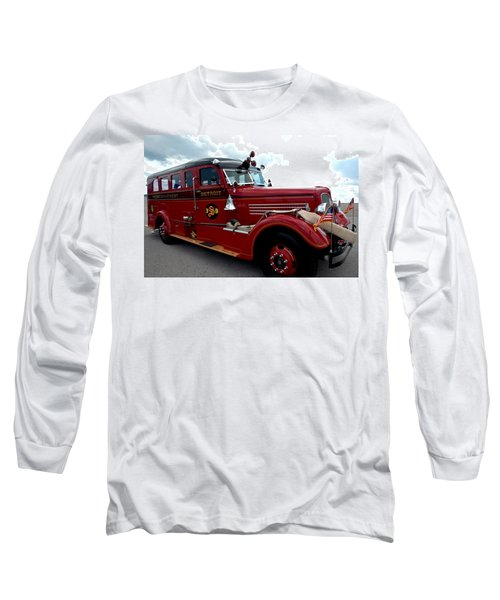 Fire Truck Selfridge Michigan Long Sleeve T-Shirt