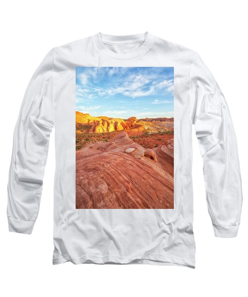 Fire Wave In Vertical Long Sleeve T-Shirt by Joseph S Giacalone