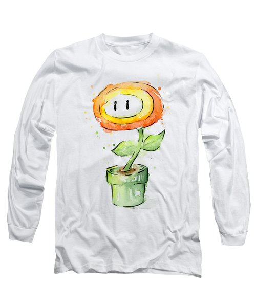Fireflower Watercolor Painting Long Sleeve T-Shirt