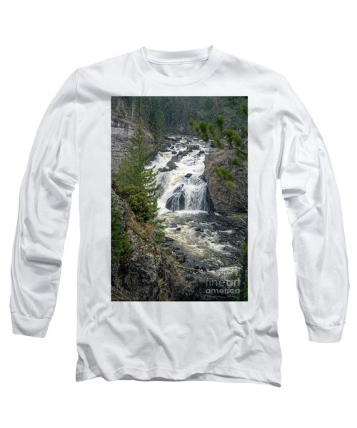 Firehole Falls Long Sleeve T-Shirt by Cindy Murphy - NightVisions