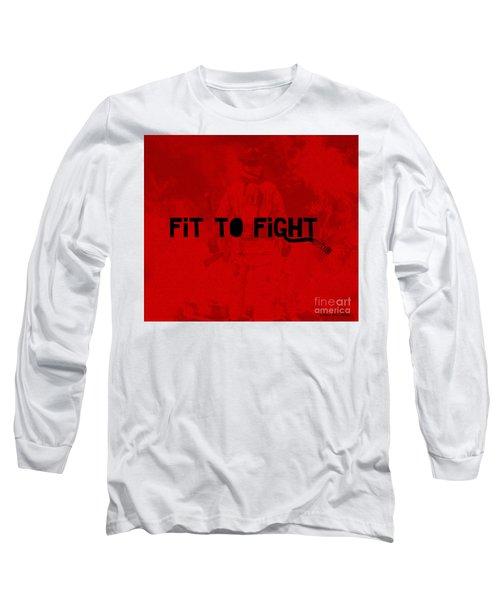 Fireman In Red Long Sleeve T-Shirt