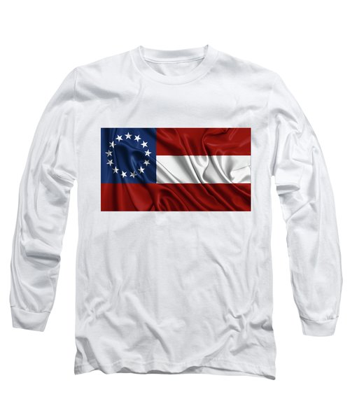 First Flag Of The Confederate States Of America - Stars And Bars 1861-1863 Long Sleeve T-Shirt