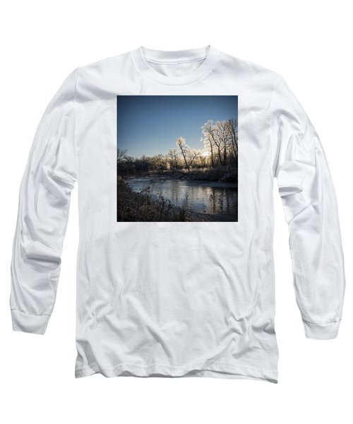Long Sleeve T-Shirt featuring the photograph First Frost by Annette Berglund