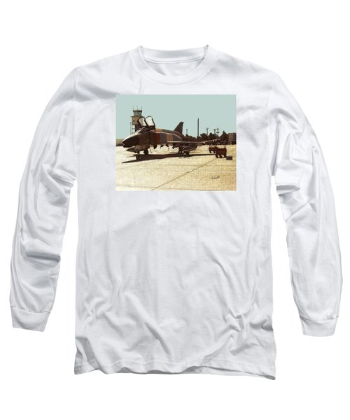 Long Sleeve T-Shirt featuring the digital art First Jet by Walter Chamberlain
