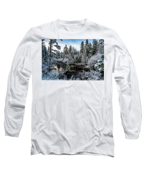 First Snow On Grand Marais Creek Long Sleeve T-Shirt