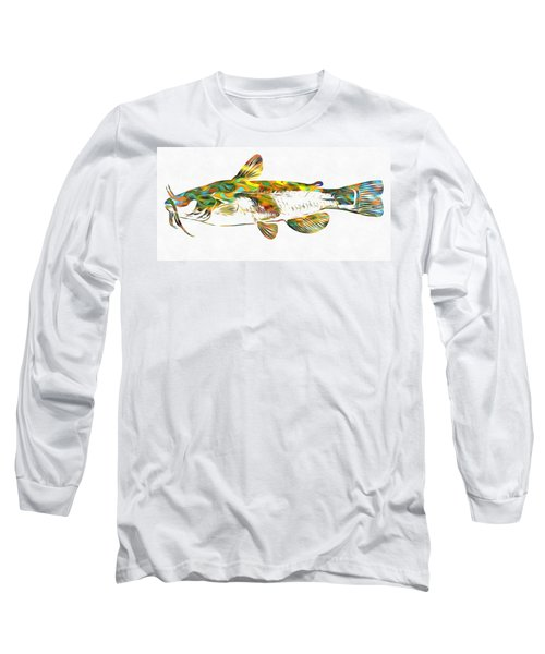 Fish Art Catfish Long Sleeve T-Shirt by Dan Sproul