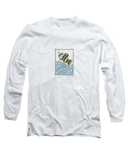 Fish In The Sea Long Sleeve T-Shirt by Billinda Brandli DeVillez