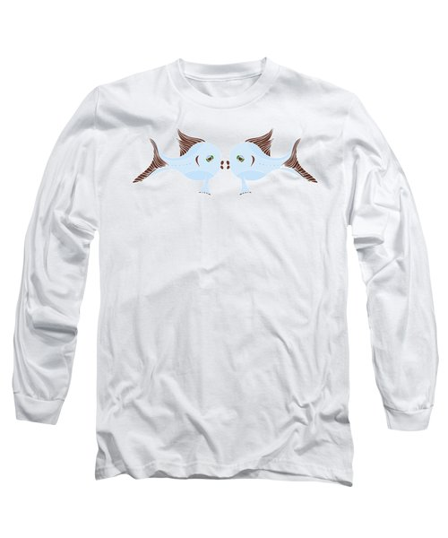 Fish Lovers Long Sleeve T-Shirt by Frank Tschakert
