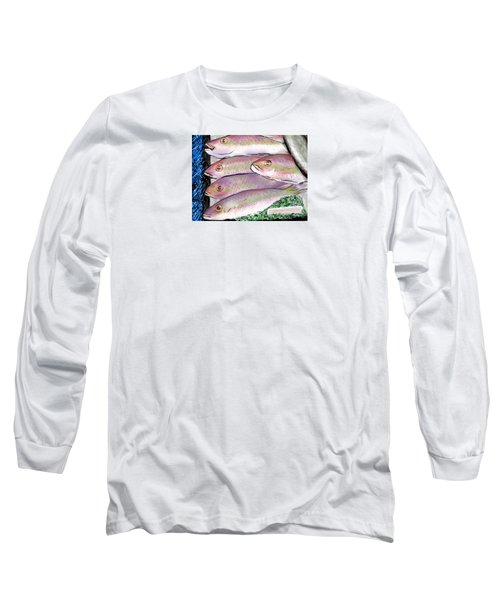 Fish Market Long Sleeve T-Shirt by Jean Pacheco Ravinski