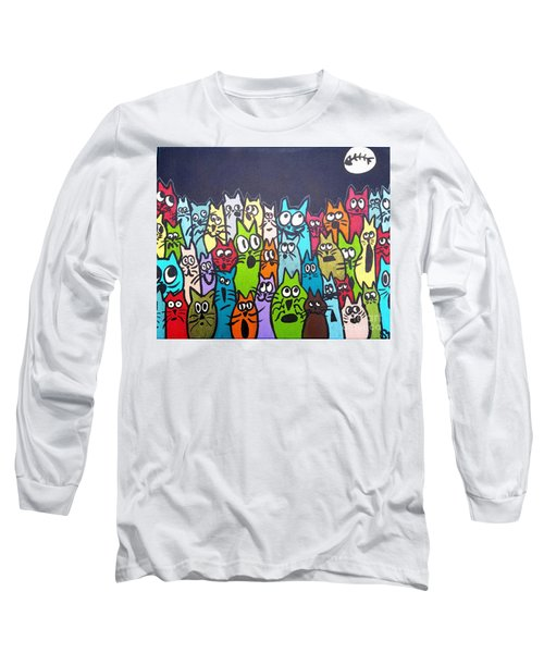 Fish Moon Cats Long Sleeve T-Shirt