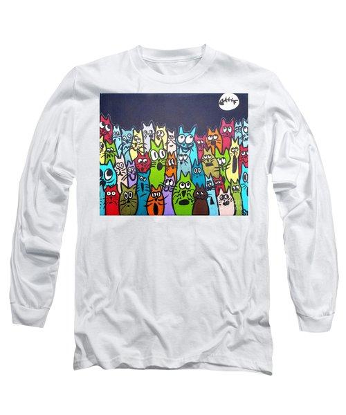 Fish Moon Cats Long Sleeve T-Shirt