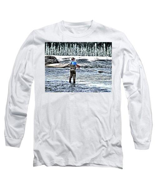 Fisherman On The River Long Sleeve T-Shirt