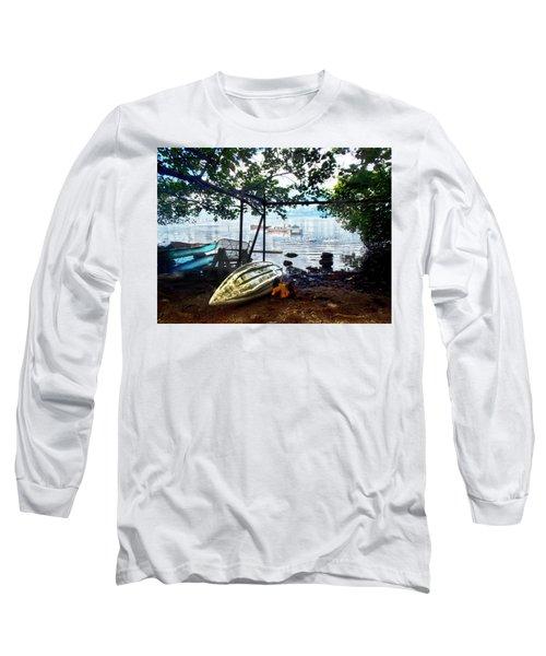 Fisherman's Cove In Moorea Long Sleeve T-Shirt