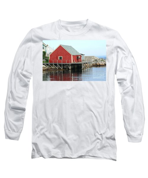 Fishermans House On Peggys Cove Long Sleeve T-Shirt