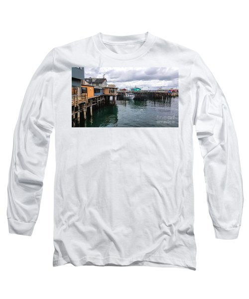 Long Sleeve T-Shirt featuring the photograph Fisherman's Wharf Monterey II by Gina Savage