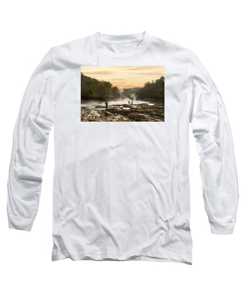 Fishing In The Mist Long Sleeve T-Shirt