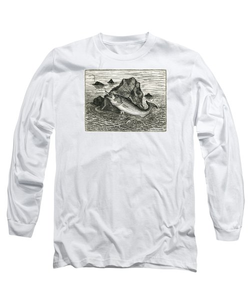 Long Sleeve T-Shirt featuring the photograph Fishing The Rocks by Charles Harden
