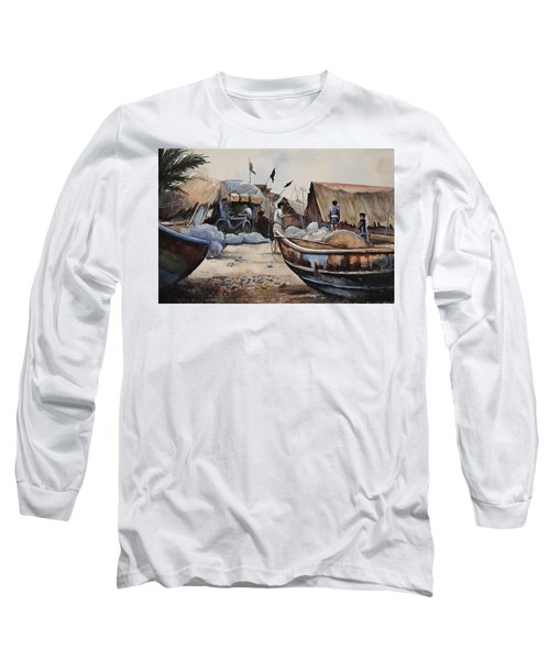 Fishing Village Of Puri Long Sleeve T-Shirt