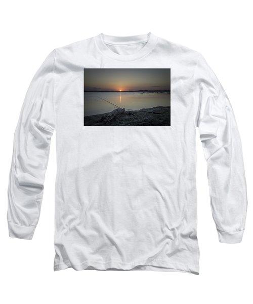 Fishing Poles Long Sleeve T-Shirt by Leticia Latocki