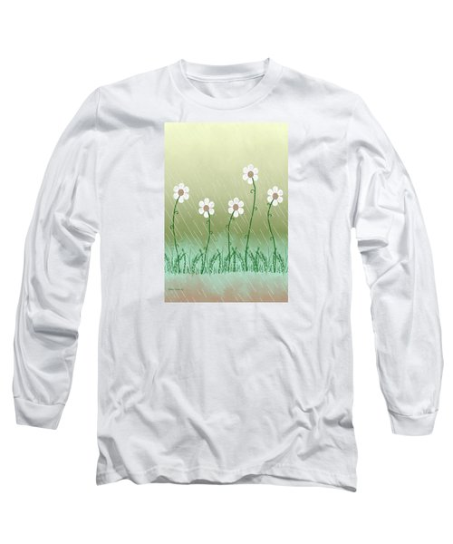 Five Days Of Daisies Long Sleeve T-Shirt by Rosalie Scanlon
