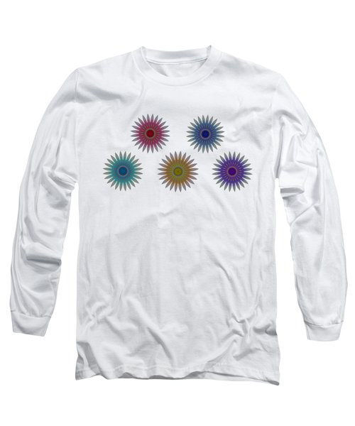 Five Flowers Long Sleeve T-Shirt
