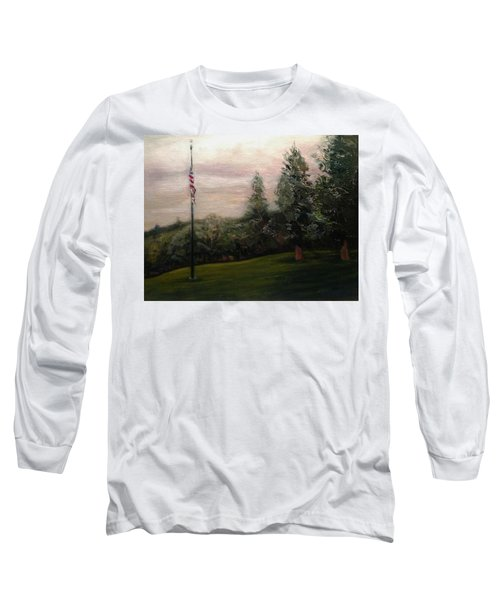 Flag Pole At Harborview Park Long Sleeve T-Shirt