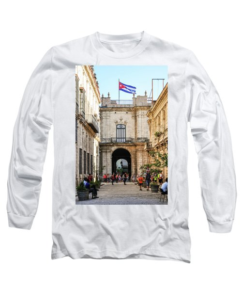 Flag Of Cuba Long Sleeve T-Shirt