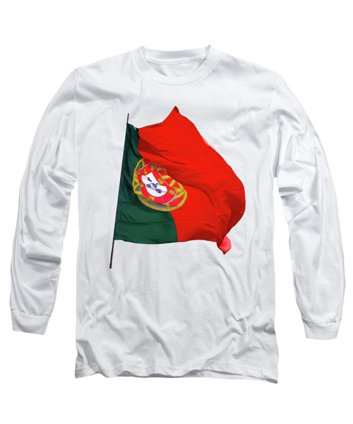 Long Sleeve T-Shirt featuring the photograph Flag Of Portugal by Menega Sabidussi