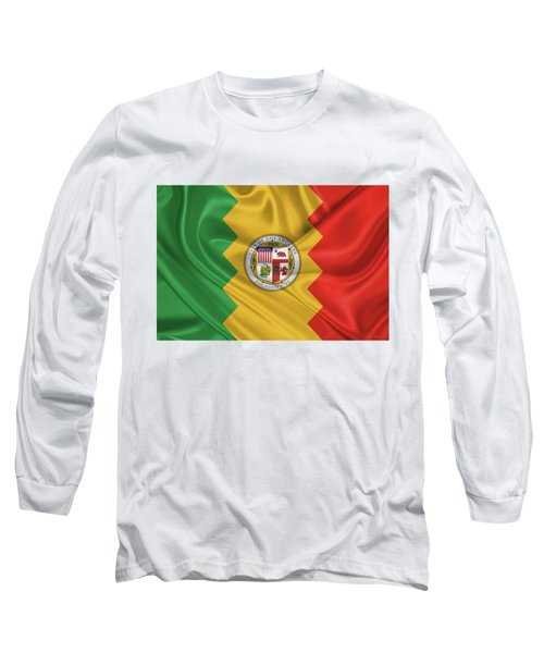 Flag Of The City Of Los Angeles Long Sleeve T-Shirt by Serge Averbukh