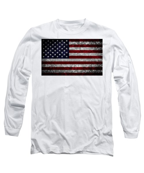 Flag Of The United States Long Sleeve T-Shirt by Martin Capek