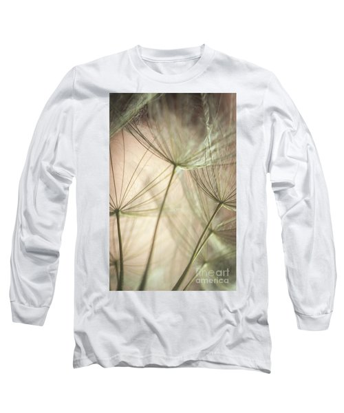 Flamingo Dandelions Long Sleeve T-Shirt by Iris Greenwell