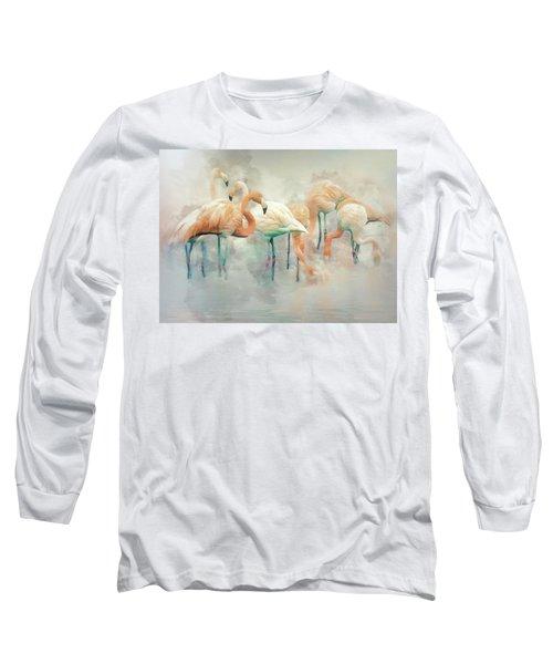 Flamingo Fantasy Long Sleeve T-Shirt by Brian Tarr