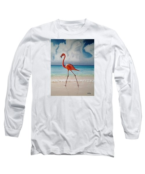 Flamingo Walk Long Sleeve T-Shirt